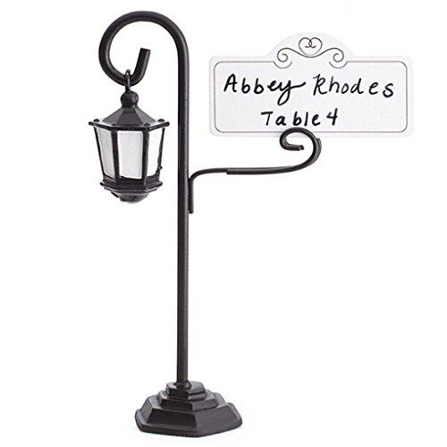 Timlatte Street Lamp Card Holder Table Number Photo Memo Clip Wedding Table Decor