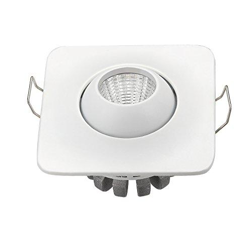 10 x 3 W a + qualité Kit 3 W COB LED Spot Encastrable Plafonnier + DRIVER + Corps Blanc 3000 K