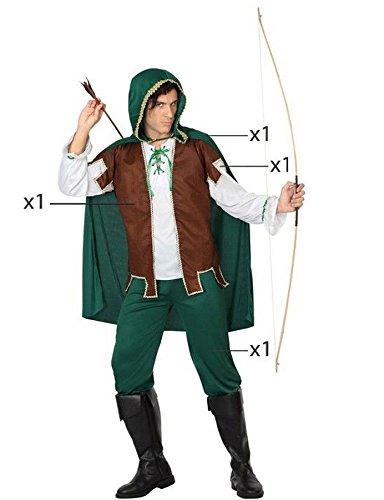 Atosa - 26906 - Disfraz Arquero- talla XL - Color Verde para Hombre Adulto