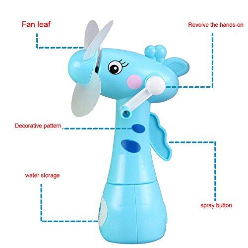 Kinder Lernspielzeug, ALIKEEY Mini Wasser Spray Fan Manuelle Rotierende Kühl Nebel Cartoon Tier Kinder Spielzeug FÜR MÄDCHEN Jungen FÜR MÄDCHEN Jungen