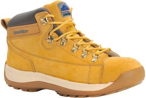 Portwest FW31HOR40 SB Size-6.5 Honey Mid-Cut Nubuck Safety Boots by Portwest Mid Cut Uniform