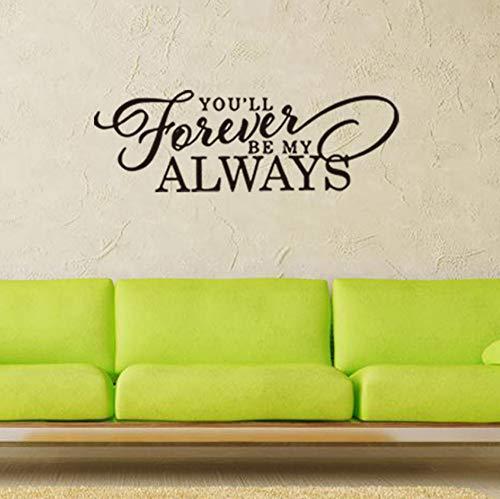r mein immer Vinyl Wandkunst Aufkleber Wohnkultur Schlafzimmer DIY Tapete abnehmbare Wandaufkleber 57x19cm sein ()