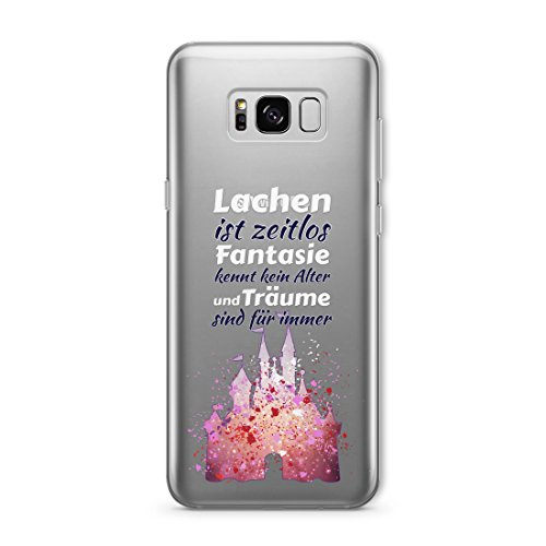 ioutlet Disney Charakter SPL KLAR Silicone Hülle für Galaxy S9 PK Castle Quote GAB