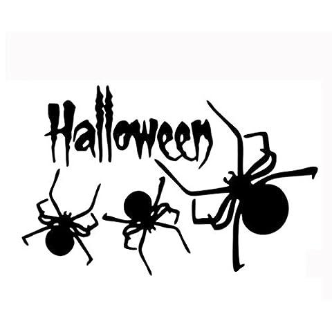 Halloween wasserdichte Tattoo-Aufkleber,Happy Halloween Home Haushalt Zimmer Wandaufkleber Mural Decor Decal Removable Neu By JIANGFU (17)