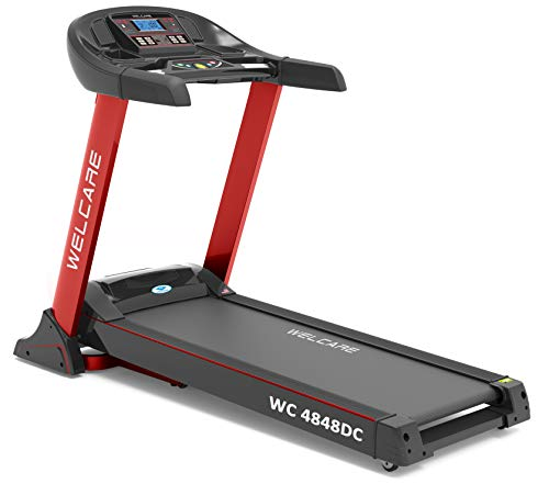 Welcare Motorized Treadmill WC4848 DC 2.5 HP(5 HP Peak),India's Most Trusted Fitness Equipment's Brand