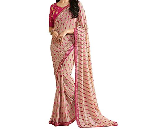 Attire Design Women's Fancy Clothing Saree Collection in Multi-Colored Georgette For Women...