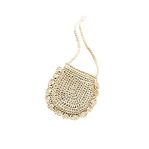 Mini Stroh Crossbody Tasche Weben Schulter Tasche Frau Sommer Strand Pack Paper für die Reise im Alltag Strand Paper Pack