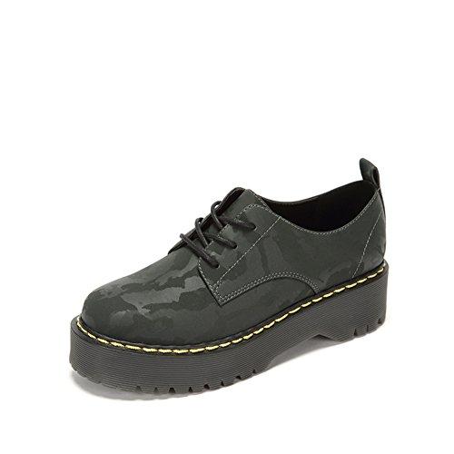 Lady's Vintage Round-headed Shoes,Scarpe Allacciate,Francesina B
