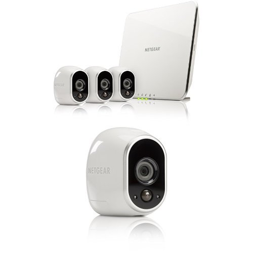 Arlo Smart Home Security Camera System - 5 Camera Bundle, 3 Camera Kit with Base Station and 2 Add On Camera