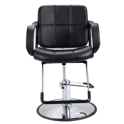 Costway Classic Hydraulic Barber Chair Salon Spa Shaving Styling Hairdressing Threadin (A)