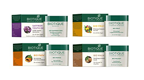 Biotique Advanced Ayurveda (Face Wash + Scrub + Face Pack + Moisturizer) Combo Pack