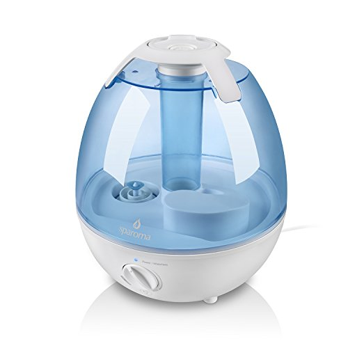Preisvergleich Produktbild Luftbefeuchter Sparoma, 3,5L Wassertank aus Antibakteriellen Material Kalt Dampf für Baby- und Kinderraum, separater Behälter für ätherische Öle, 7-facher LED-Farbwechse