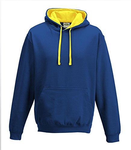 CottonRidge -cappuccio Uomo-Donna Royal Blue/Sun Yellow