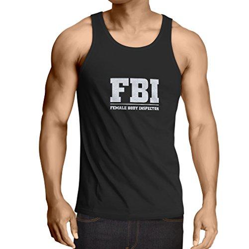 lepni.me Weste Weiblicher Körper-Inspektor Unisex T-Shirt (Medium Schwarz Weiß)
