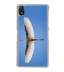 Fiobs Designer Back Case Cover for Sony Xperia Z3 :: Sony Xperia Z3 Dual D6603 :: Sony Xperia Z3 D6633 (Wings Pankh Swan Bird Panchi )