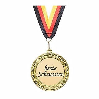 andSmile Orden / Medaille Beste Schwester Geschenk Namenstag Jubiläum Geburtstag
