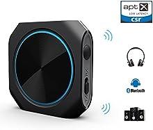 Bluetooth 4.1 transmisor / receptor,Zoweetek® AptX baja latencia 2-en-1 y Inalámbrica A2DP Bluetooth Transmisor Audio Estéreor(conexión 3.5mm)