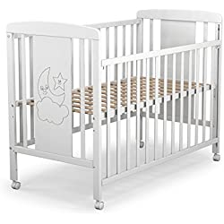 Cuna para bebé, modelo cielo. 1 lateral abatible y 3 posiciones de somier