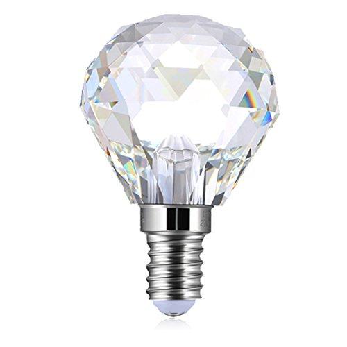 PureLume LED Crystal Globe Lampe (3W, E14) Kristall Leuchtmittel für Kronleuchter Lüster