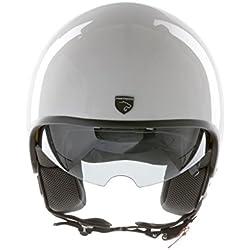 Panthera casco de moto full jet Vintage blanco brillante talla XL