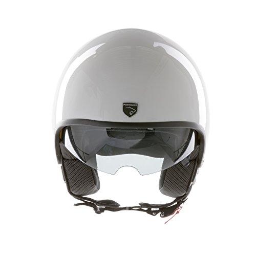 Panthera casco de moto full jet Vintage blanco brillante talla XS