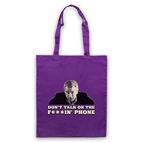 Inspire par Goodfellas Don't Talk On The Phone Officieux Sac d'emballage Violet