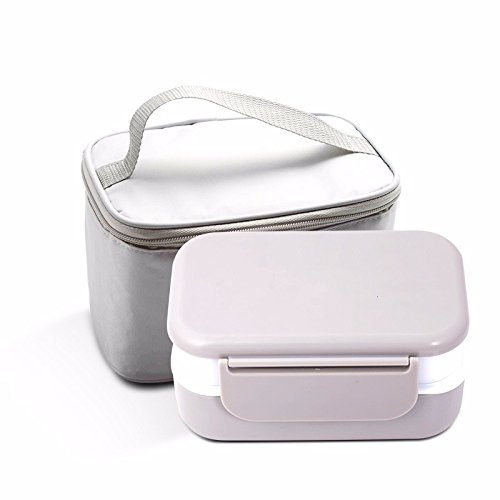 lzzfw Brotdose Karte kann Doppel-Layer Sealed Sub-Grid Isolierung Box Lunch Boxes, E Subs Sealed Box