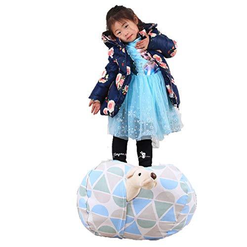 Gefüllt Luft Kostüm - QISE Extra große kreative gefüllte Tier Lagerung Bean Bag Chair Spielzeug Veranstalter