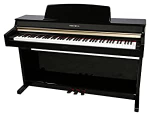 Kurzweil MP10F 88-Key Student-Model Digital Piano with Fatar Hammer Action Keybed, Black Polish