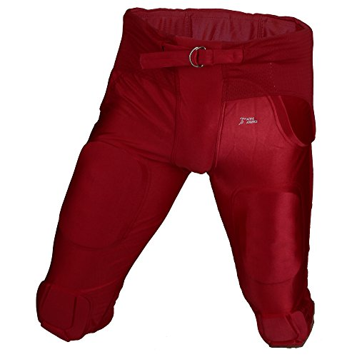 "Active Athletics American Football Hose 7 Pad ""All in One"" Gamepants - rot Gr. XL"