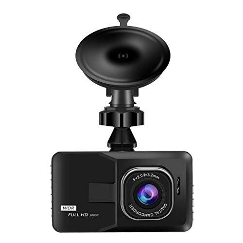 Hunpta@ Car Video Recorder, HD 1080P Auto DVR Fahrzeug Kamera Video Recorder Dash Cam Nachtsicht 3,0 Zoll (Schwarz) (Fahrzeug-video-recorder)