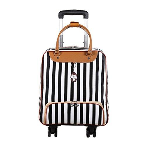 Liuwenan Koffer 4 Universalräder Tragen Trolley Handgepäck-Business-Reise Reise-Outdoor-Trolley Hohe Kapazität Leichte Reisetasche Drag Bag Handtasche Stamm (Color : E, Size : 45CM) -