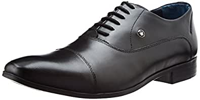Louis Philippe Men's Black Leather Formal Shoes (8866918)- 11 UK