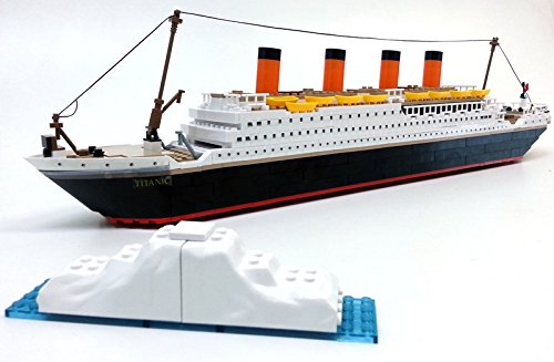 Brigamo Spiele 479 - Titanic Bausteine Schiff, 450 Teile, 60 cm lang, kompatibel mit den gängigen Marken Bausteinen