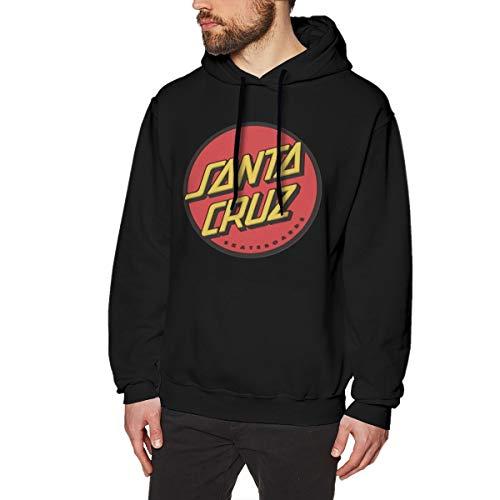 Scottdstalter Lässige Pullover Sweatshirts Santa Cruz Grafik Black XL Herren Hoodies Langarm -