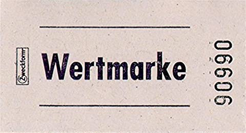 Avery Zweckform Value Counters on Roll, Sequentially Numbered white