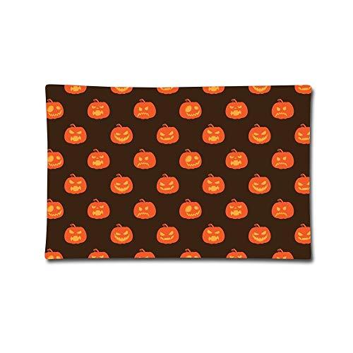 Pillowcases Halloween Pumpkin Print 100% Cotton Standard Case Grey Pillow Cases ()
