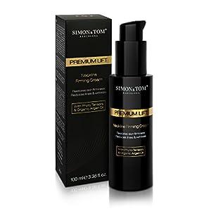 Simon & Tom – PREMIUM LIFTING – Crema Reafirmante para Cuello, Efecto Lifting Instantáneo y piel más lisa a largo plazo…