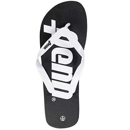 Penn Flip-Flops mit Logo Schwarz/Weiß