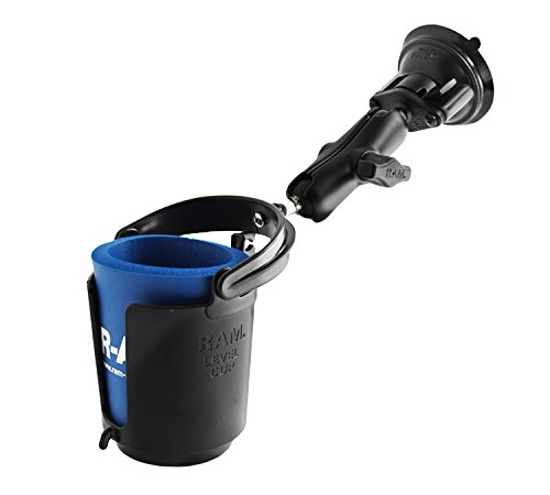 ram-b-132s-twist-lock-suction-cup-mount-with-self-leveling-cup-holder-drink-cozy