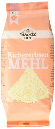 Bauckhof Bio Kichererbsenmehl, 6er Pack (6 x 500 g)