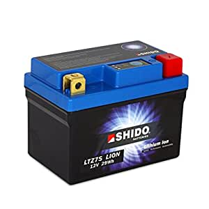 Batterie 12V 6AH(2.4) YTZ7S, Lithium ion Shido pour BMW G 450 X K16 | BMW HP4 K42 | Gas Gas EC 400 FSE | Gas Gas EC 450 FSR | Gas Gas FSE 450 | Generic Trigger 125 SM | Honda ANF Innova JC37 | Hon