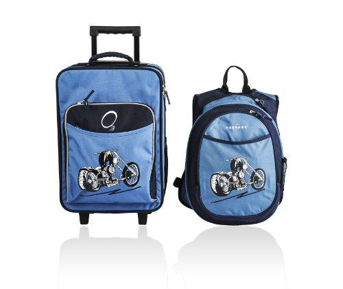 bambini-2-pezzi-set-di-valigie-pattern-blu-moto