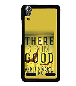 PrintVisa Designer Back Case Cover for Lenovo A6000 Plus :: Lenovo A6000+ :: Lenovo A6000 (Quote Case There Is Some Good World Worth Fighting)