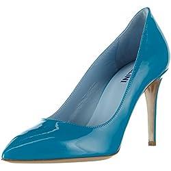 Pollini Damen Scarpad.PRINCESS85 Vernice Turchese Pumps, Blau (702 Turquoise Patent), 37 EU