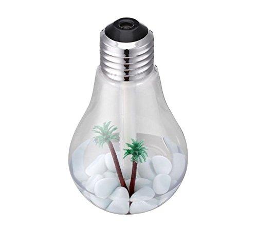Scheda dettagliata BerryKing Healthbulb 400 ml deodoranti per ambienti umidificatore diffusore di fragranze purificatori d'aria interni umidificatore per ambienti con LED per soggiorno, camera da letto, ufficio