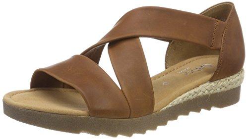 Gabor Shoes Damen Comfort Sport Riemchensandalen, Braun (Peanutjute/Ambra), 40.5 EU