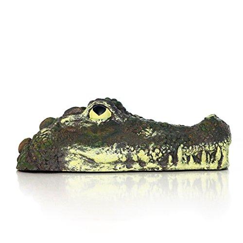 Von Hand Bemalt, Bad (AM-Design Krokodilkopf schwimmend, Kunststoff, H ca. 14 cm | AM-88393 | 4056422883932)