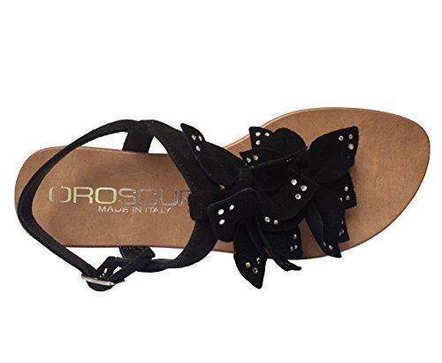 Oroscuro , Sandales femme Noir