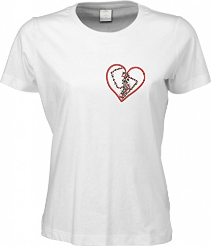 makato Sof-Tee 'healing broken heart' /women 770003 White